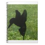 ornamento del césped del colibrí libros de apuntes con espiral