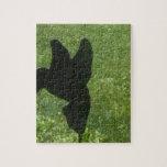 ornamento del césped del colibrí puzzle