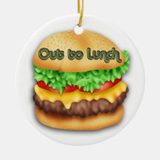 Ornamento del cheeseburger adorno de navidad