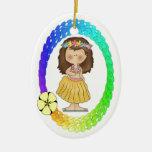 Ornamento del chica de Hula Ornamento De Reyes Magos
