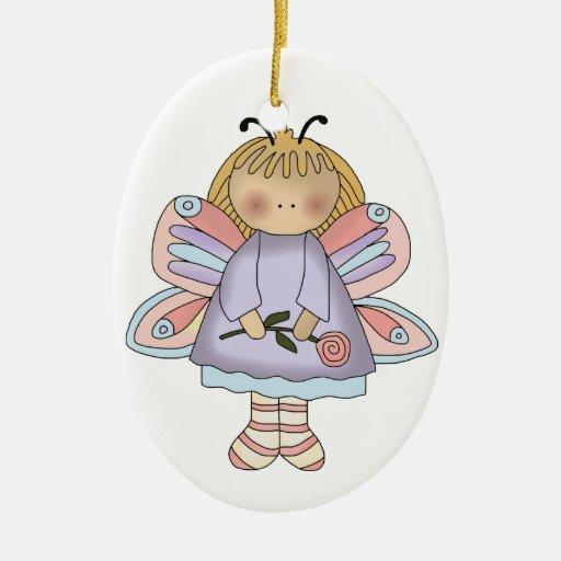Ornamento del chica de la mariposa adornos de navidad