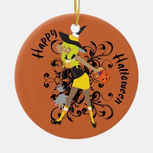 Ornamento del chica de las pastillas de caramelo adorno de navidad