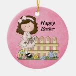 Ornamento del chica de Pascua Adorno