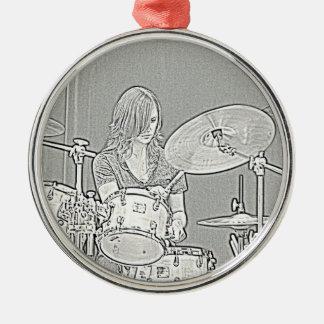 Ornamento del chica del batería ornato