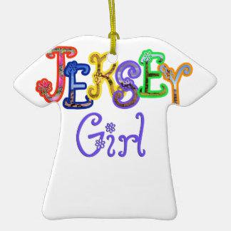 Ornamento del chica del jersey ornamento para reyes magos
