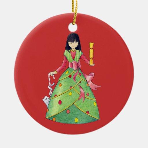Ornamento del chica del navidad ornaments para arbol de navidad
