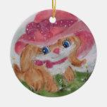 ornamento del chica del perrito ornamente de reyes