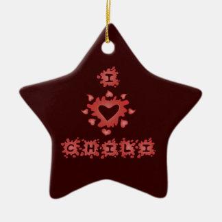 Ornamento del chile del amor ornamento para arbol de navidad