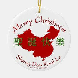 Ornamento del chino de las Felices Navidad Adorno De Reyes