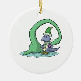 Ornamento del chocolate caliente del dinosaurio ornaments para arbol de navidad