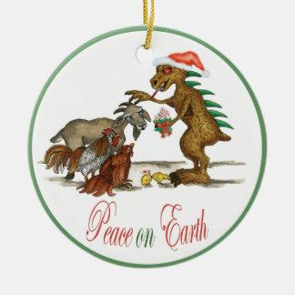 Ornamento del Chupacabra y de la cabra Ornamento De Navidad