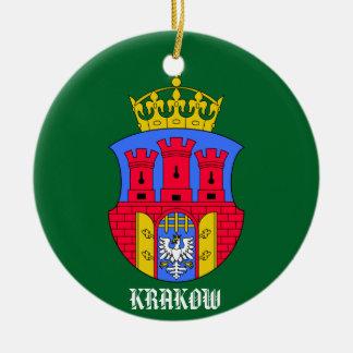 Ornamento del círculo de Kraków Polonia Adorno Navideño Redondo De Cerámica