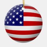 Ornamento del círculo de la bandera de los E.E.U.U Ornamente De Reyes