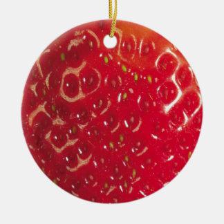 Ornamento del círculo de la fresa adorno navideño redondo de cerámica