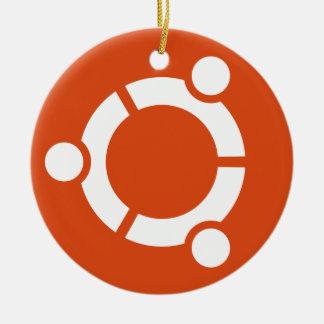 Ornamento del círculo de Ubuntu Adorno Navideño Redondo De Cerámica