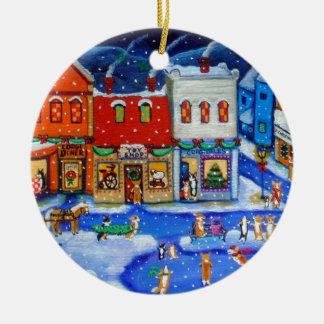Ornamento del círculo del Corgi Galés del Pembroke Ornamento De Navidad