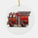 Ornamento del coche de bomberos de la escalera ornamento para reyes magos