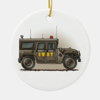 Ornamento del coche policía de Hummer del equipo d Ornamentos De Navidad