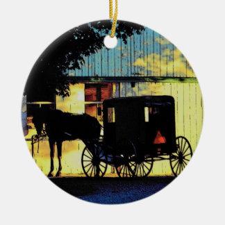 Ornamento del cochecillo de Amish Ornato