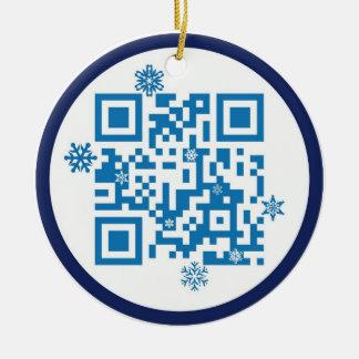 ¡Ornamento del código de QR - Felices Navidad!! Adorno Para Reyes