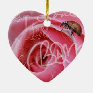 Ornamento del colgante del amor de la mariquita ornamentos para reyes magos