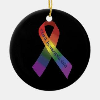 Ornamento del colgante del círculo de la homofobia ornamento para reyes magos