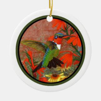 ¡Ornamento del colibrí - personalícelo! Adorno Navideño Redondo De Cerámica