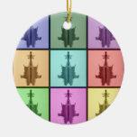 Ornamento del collage 6 de Rorschach Ornamente De Reyes