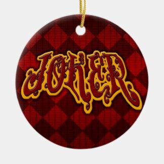Ornamento del comodín adorno navideño redondo de cerámica