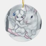 """""""Ornamento del conejito de la nieve"""" Ornamento Para Reyes Magos"""