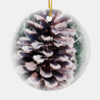 Ornamento del cono del pino ornamentos de navidad