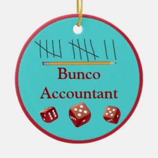 Ornamento del contable de Bunco Adorno Para Reyes