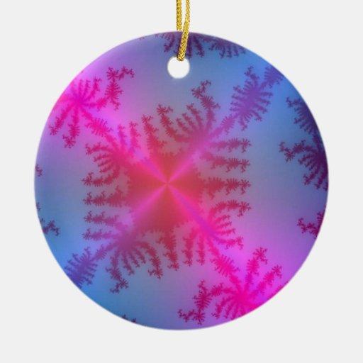 ornamento del copo de nieve adorno navideño redondo de cerámica