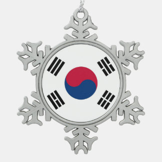 Ornamento del copo de nieve con la bandera de la adorno de peltre en forma de copo de nieve