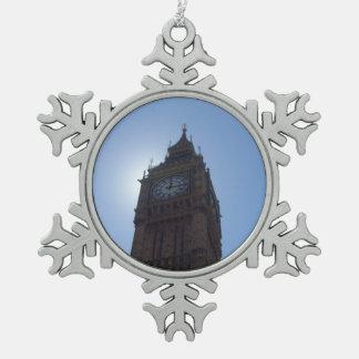 Ornamento del copo de nieve de Big Ben Adorno De Peltre En Forma De Copo De Nieve