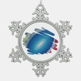 Ornamento del copo de nieve de Chakra de la Adorno De Peltre En Forma De Copo De Nieve