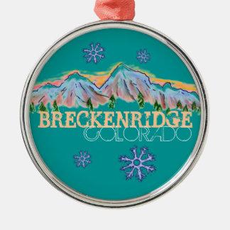 Ornamento del copo de nieve de la montaña de Breck Ornamentos Para Reyes Magos