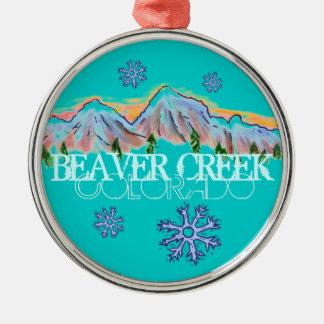 Ornamento del copo de nieve de la montaña de Color Ornaments Para Arbol De Navidad