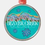 Ornamento del copo de nieve de la montaña de ornaments para arbol de navidad
