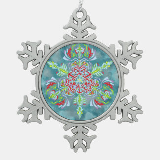 Ornamento del copo de nieve de la reina del hielo