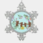 Ornamento del copo de nieve de las koalas del bebé adornos