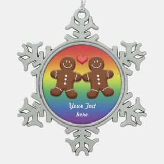 Ornamento del copo de nieve de los pares de los adorno de peltre en forma de copo de nieve