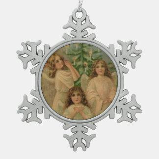 Ornamento del copo de nieve del arte del Victorian Adornos