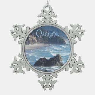 Ornamento del copo de nieve del estaño de Oregon Adornos