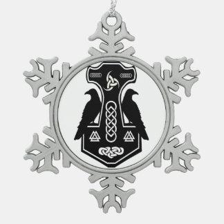 Ornamento del copo de nieve del martillo del Thor Adorno De Peltre En Forma De Copo De Nieve