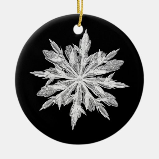 Ornamento del copo de nieve - personalizable ornamento de navidad