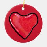 Ornamento del corazón 1 del caramelo adornos de navidad