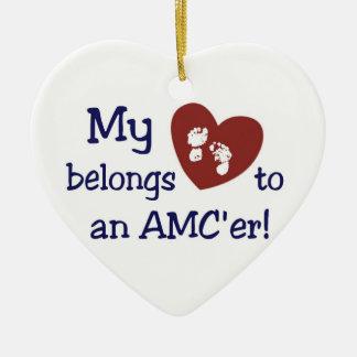 Ornamento del corazón de AMCer Adorno De Cerámica En Forma De Corazón
