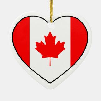 Ornamento del corazón de Canadá para el árbol de Adorno De Cerámica En Forma De Corazón