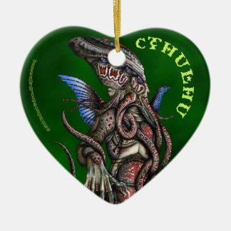Ornamento del corazón de Cthulu Adorno De Cerámica En Forma De Corazón